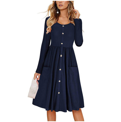 Fashion Wrap Long Sleeve Vintage Casual Midi Fall Dress Women 2018 Autumn Black Plus Size Elegant Christmas Dresses XXL