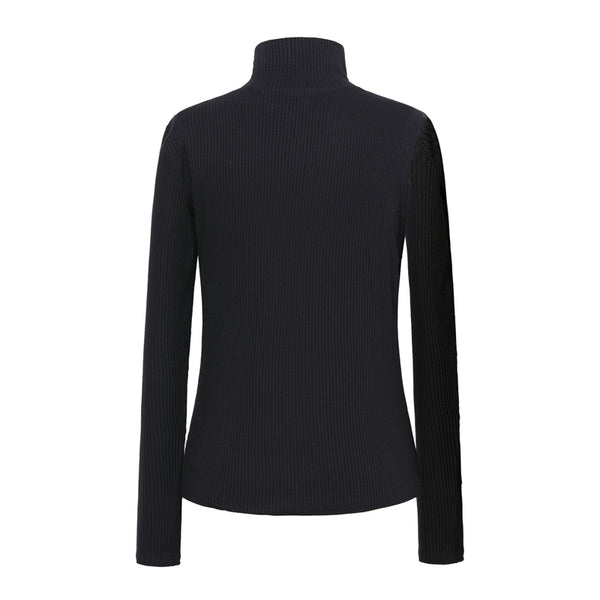 Black Turtleneck Sweater Women Autumn Winter Tassel Knitted Casual Pullover Jumper Female Sexy Slim Basic Warm Sweater Plus Size - NaomisStore.com