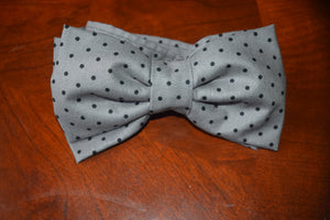 Grey Moon & Black Stars Bow Tie - NaomisStore.com