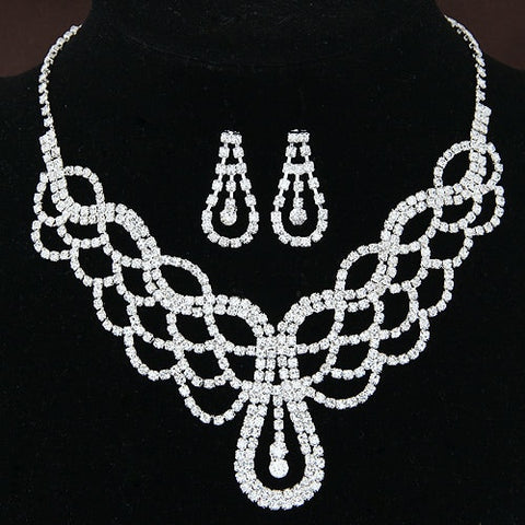 Kymyad Silver Color Jewelry sets