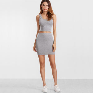 2piece Sporty Tank Top and Skirt - NaomisStore.com