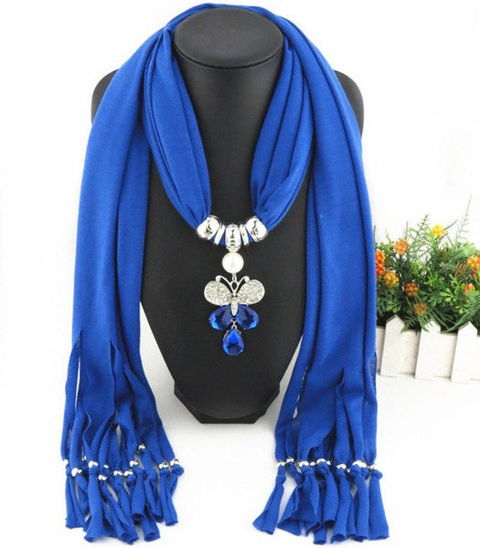 New Arrival Charms winter Scarf Necklaces