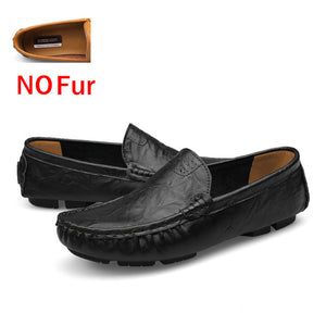 DEKABR Big Size 36~50 High Quality Genuine Leather Men Shoes Soft Moccasins Loafers Fashion Brand Men Flats Comfy Driving Shoes - NaomisStore.com