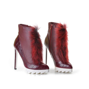 high heels ankle Winter boots - NaomisStore.com