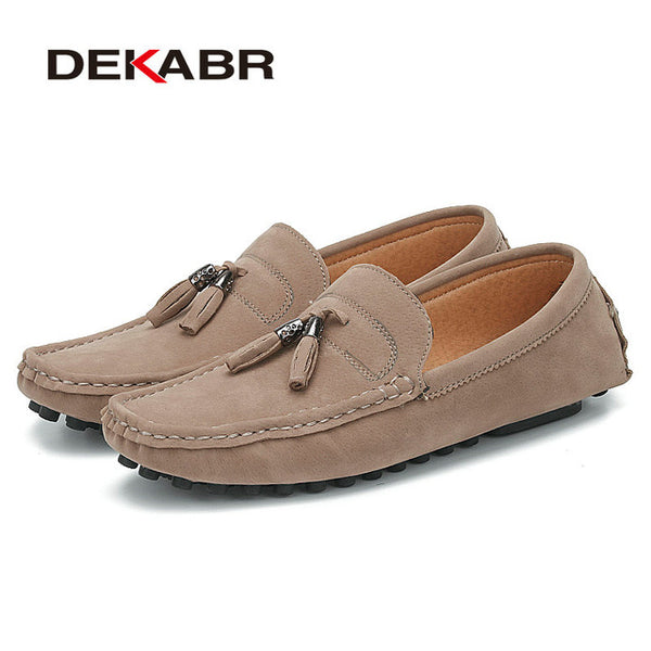 DEKABR Brand Handmade Men Shoes High Quality Loafers Anti-Skid Driving Shoes Breathable Slip-On pu Leather Mocassins Shoes Men - NaomisStore.com