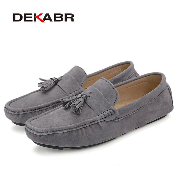 DEKABR Suede Leather Men Loafers Moccasins Designer Men Casual Shoes High Quality Breathable Flats For Men Boat Shoes Size 38-44 - NaomisStore.com