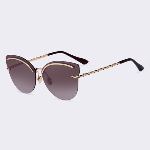 Rimless Reflective Sunglasses