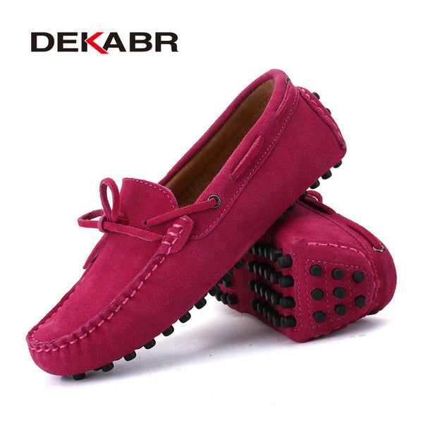 DEKABR Brand Big Size Cow Suede Leather Men Flats 2018 New Men Casual Shoes High Quality Men Loafers Moccasin Driving Shoes - NaomisStore.com