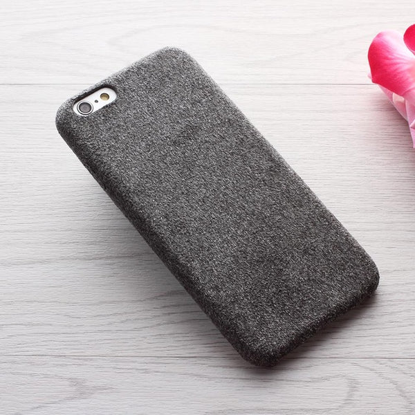 Suede Skin Warm Soft PP Anti-scratch Iphone Case