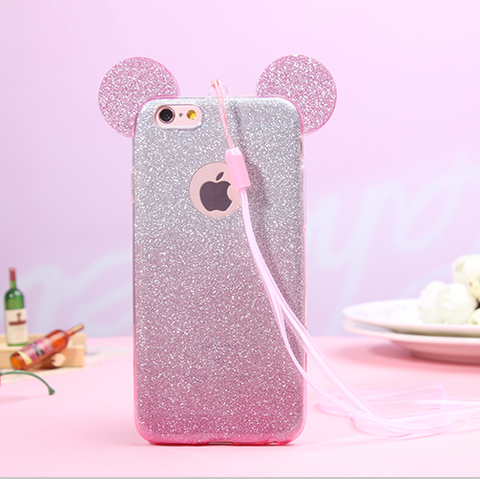 Silicone 3D Ears Iphone Case