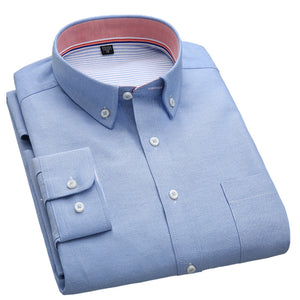 Turn Down Collar Slim Fit Solid Plain Shirt