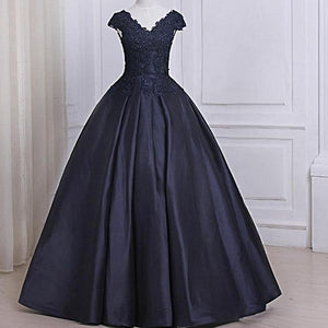 Beaded Ball Gown Prom Dress