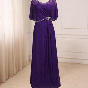 Purple Lace Mother of the Bride Dress