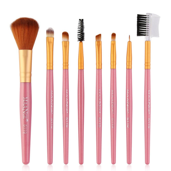 8 pcs Professional Makeup Brushes Set Powder Eyeshadow Highlight Foundation Beauty Cosmetics Make Up Brush Tool Kits