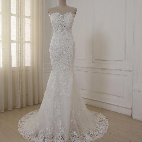 2018 High Quality Mermaid Wedding Dress
