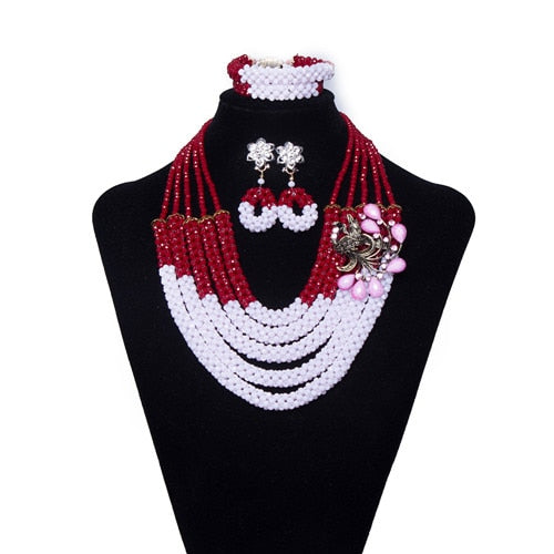 Crystal Necklace  Wedding Beads Bridal Jewelry