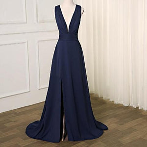 Sexy Navy Blue Prom Dress