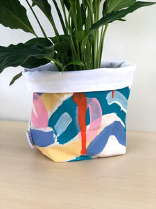 Ocean Vibes Pot Cover + Drip Tray + Plant Of Choice