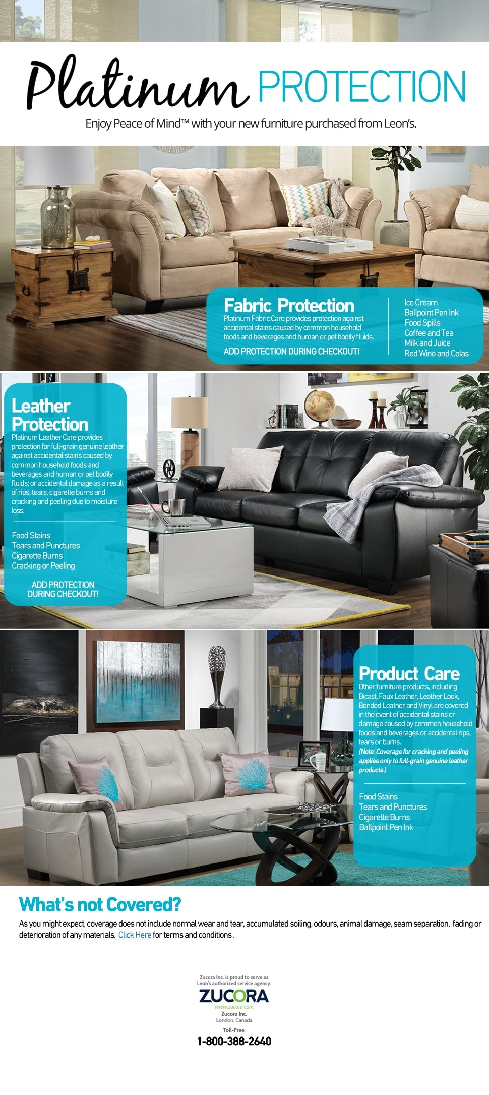 Platinum Protection - Enjoy Peace of MindTM with your furniture purchased from Leon's. Add in cart.