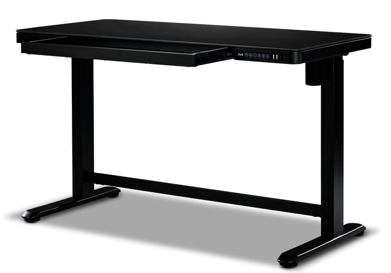 Matthew Adjustable Height Desk - Black
