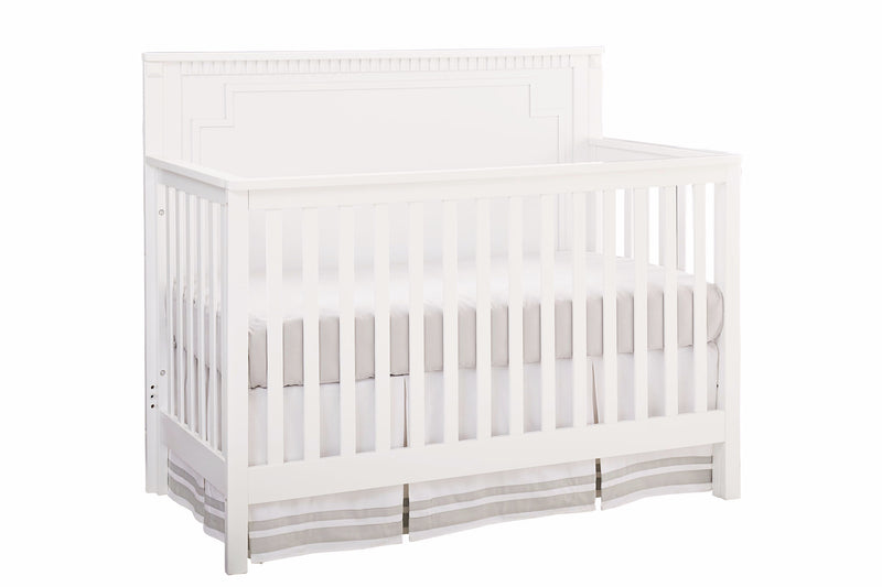 Emery Convertible Panel Crib - White