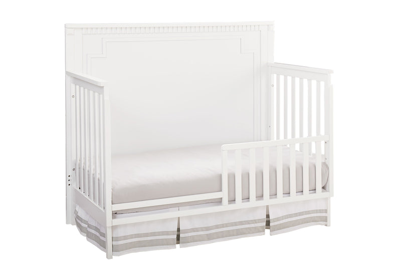 Emery Convertible Panel Crib with Toddler Guard Rail Package - White