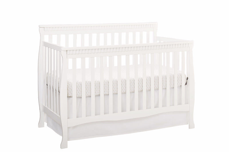 Emery Convertible Slat Crib - White