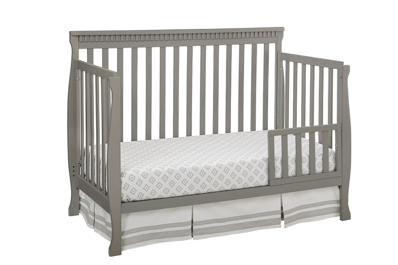 Emery Convertible Slat Crib with Toddler Rail - Grey