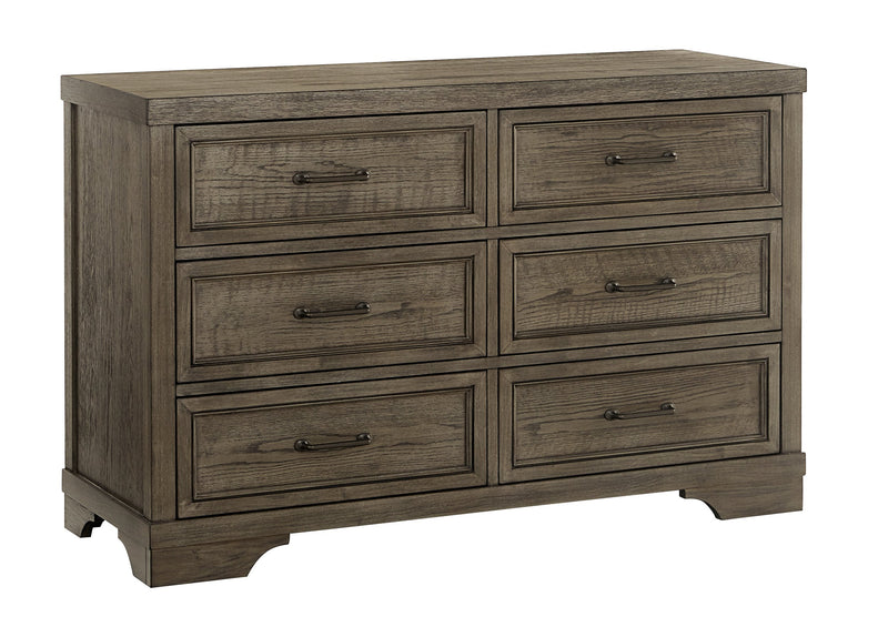 Foundry 6-Drawer Dresser - Brushed Pewter