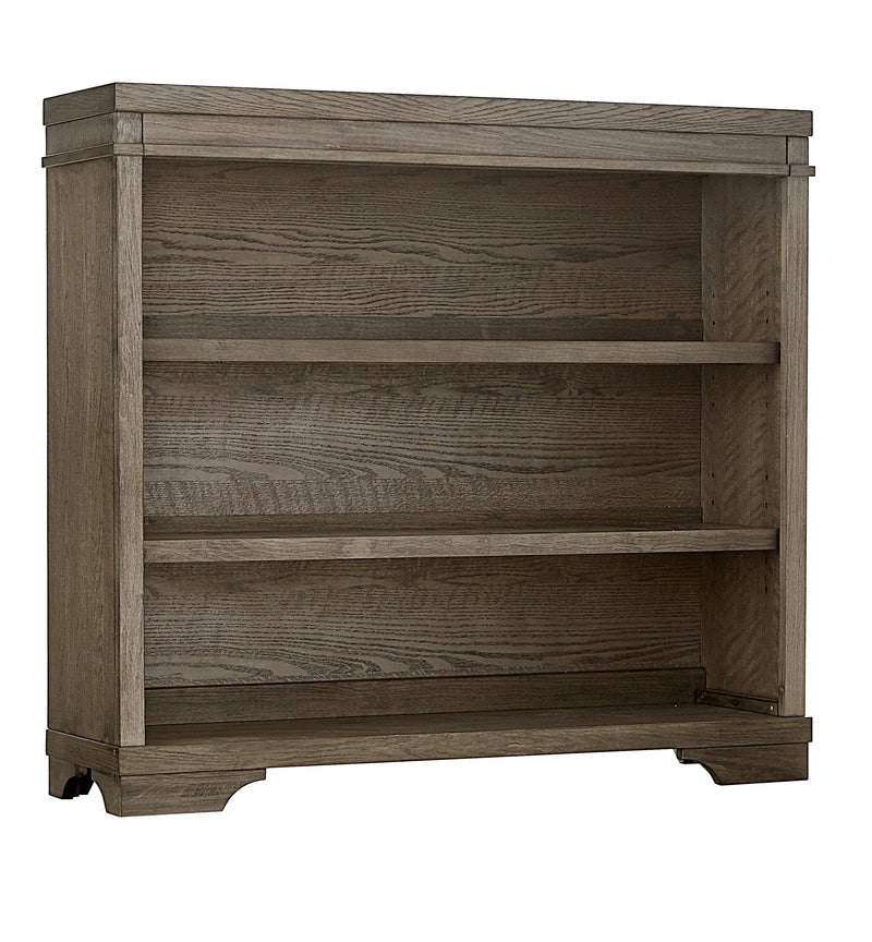 Foundry Hutch Bookcase - Brushed Pewter