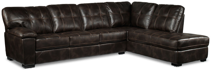 Nacino 2-Piece Sectional with Right-Facing Chaise - Coffee