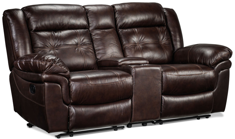 Cooper Reclining Loveseat with Console - Brown