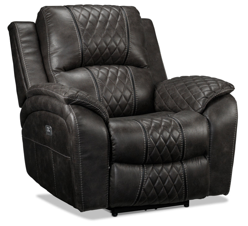 Wesley Dual Power Recliner - Granite