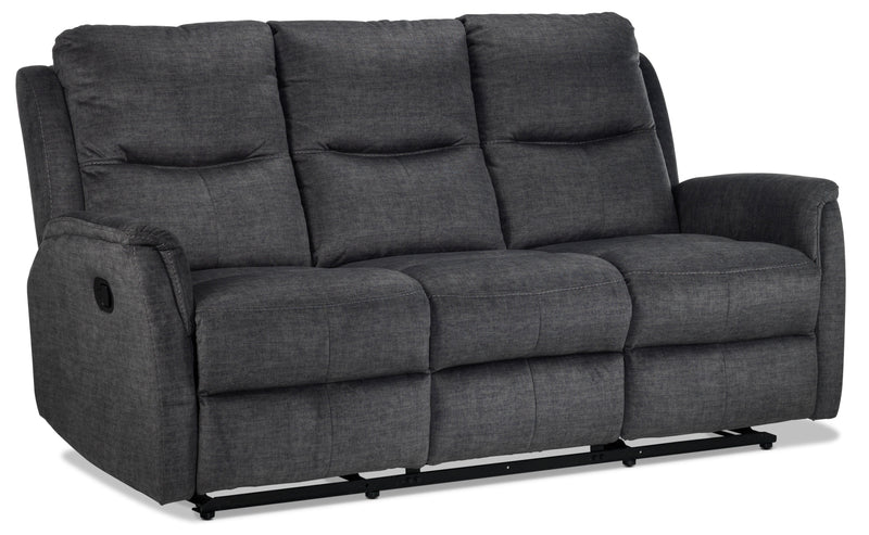 Grayson Reclining Sofa - Charcoal