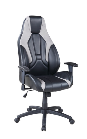 Zane Executive Gaming Chair - Grey and Black