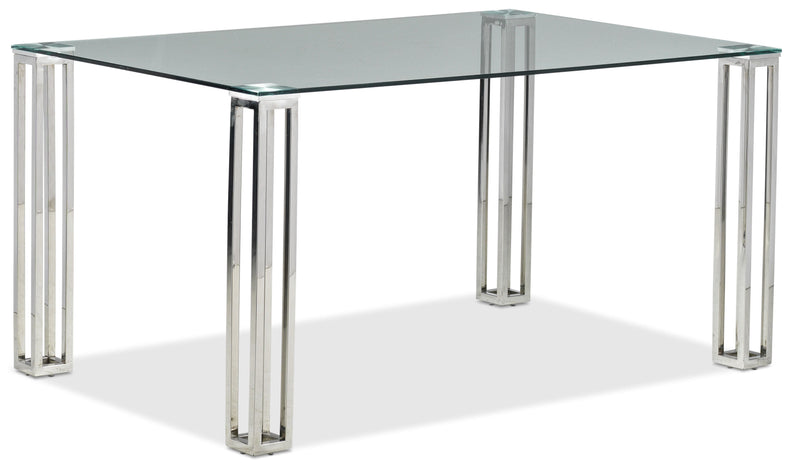 Kattie Dining Table - Stainless Steel