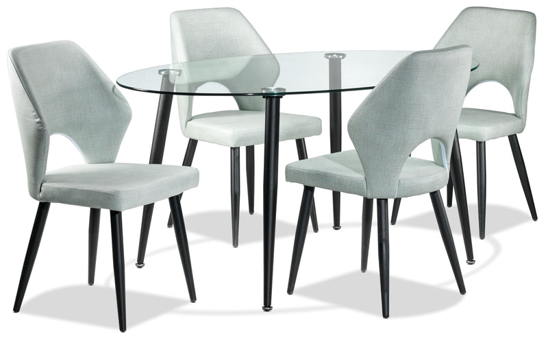 Billy 5-Piece Dinette Set - Aqua