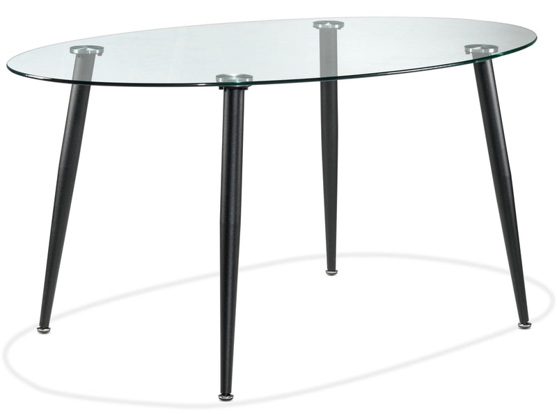 Oscar Dining Table - Matte Black and Glass