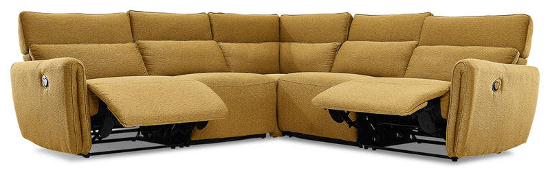 Larsen 5-Piece Reclining Sectional - Curry