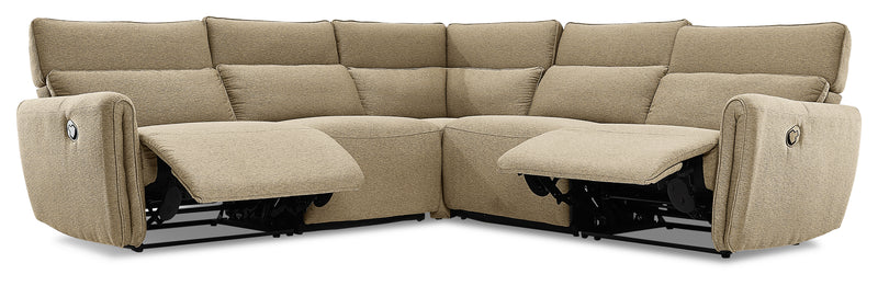 Larsen 5-Piece Reclining Sectional - Sand