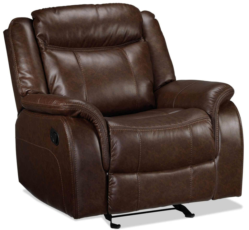 Scorpio Glider Recliner - Whiskey Brown
