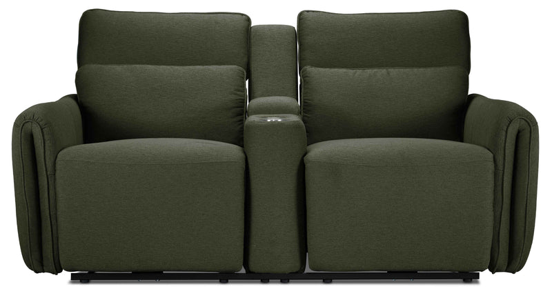 Larsen Power Reclining Loveseat - Olive