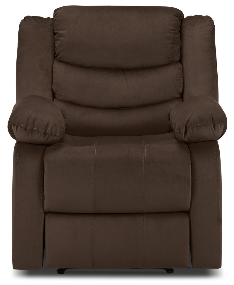 Logan Power Recliner - Chocolate Brown