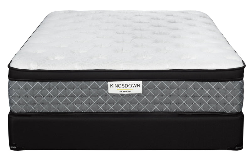 Kingsdown Dionne Plush King Mattress and Split Boxspring Set