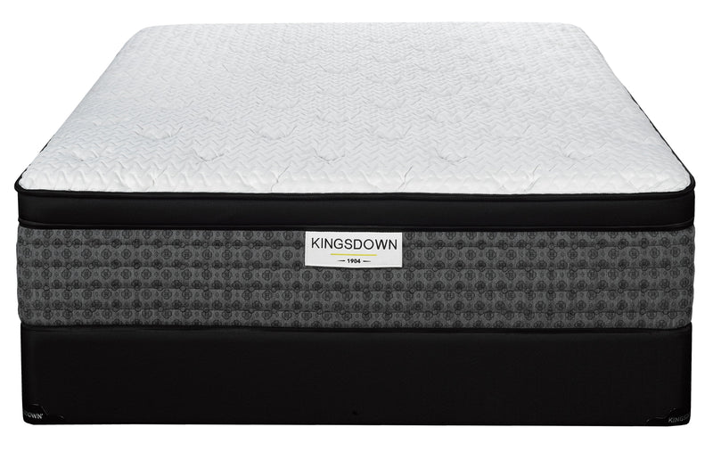 Kingsdown Issac Plush King Mattress and Split Boxspring Set