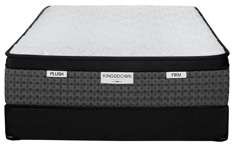 Kingsdown Liberty Plush Full Mattress and Boxsprinmg Set