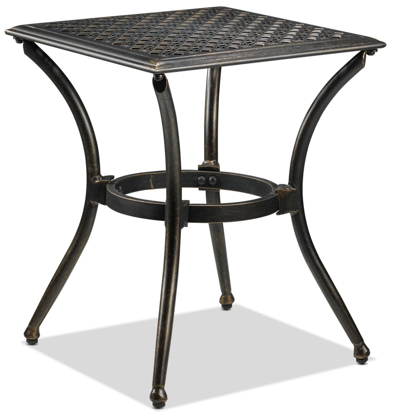 Manhattan Outdoor Side Table - Dark Brown