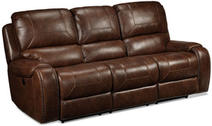 Jennings Power Reclining Sofa - Mesquite Brown