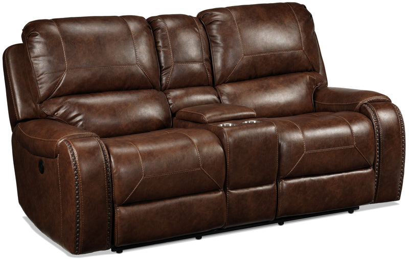 Jennings Power Reclining Loveseat - Mesquite Brown