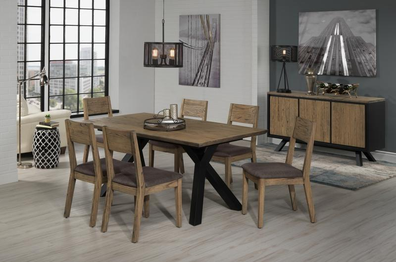 New York 8 Piece Dining Room Set W Buffet